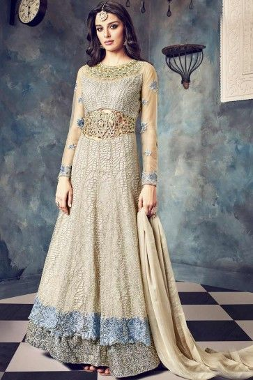 Silvar Butterfly Net Anarkali Suit