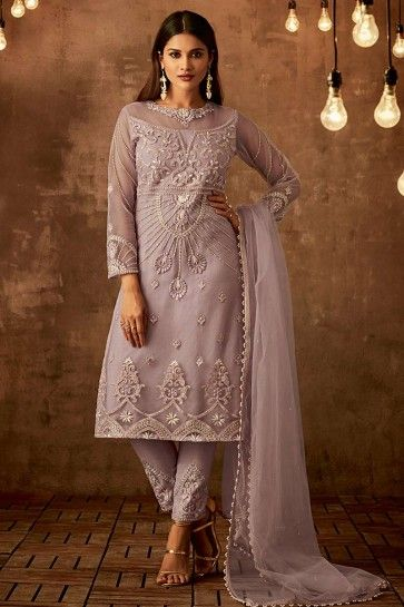 Lilac Net Palazzo Suit