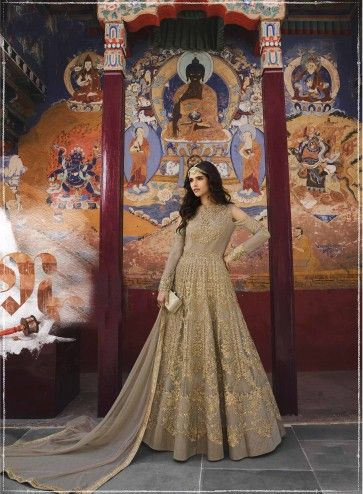 Costumes Anarkali Net beige