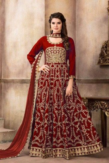 costume art couleur marron soie churidar