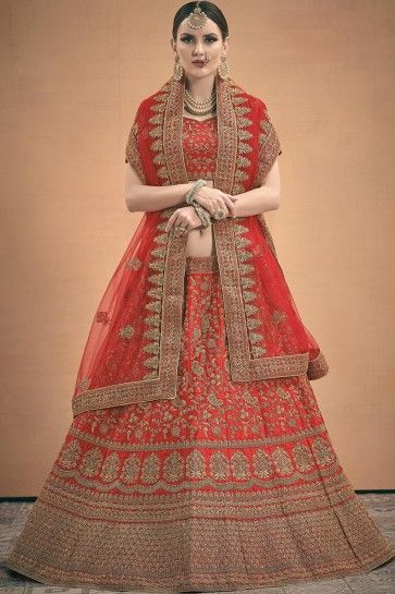 Lehenga Choli Satin Rouge