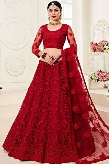 filet rouge lehenga choli