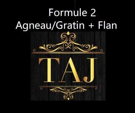Formule 2  AGNEAU/GRATIN + FLAN