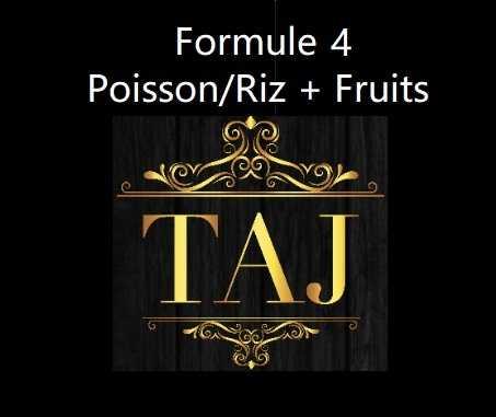 Formule 4  POISSON / RIZ + FRUITS
