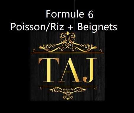 Formule 6  POISSON / RIZ + BEIGNETS