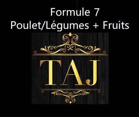 Formule 7  POULET/ LEGUMES + FRUITS