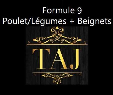 Formule 9  POULET / LEGUMES + FRUITS