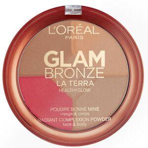 L'Oreal Glam Bronze Radiant Complexion bronzosító púder – 02 Medium Speranza
