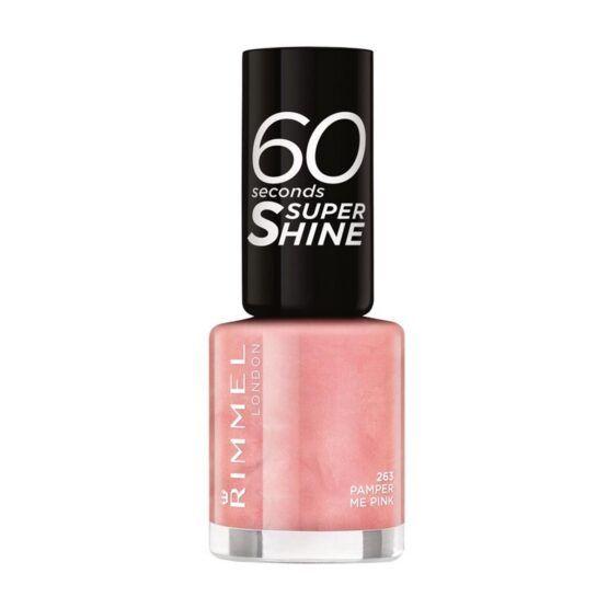 Rimmel 60 Seconds Super Shine körömlakk – 263 Pamper Me Pink