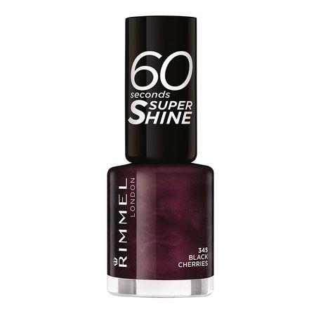 Rimmel 60 Seconds Shine körömlakk – 345 Black Cherries