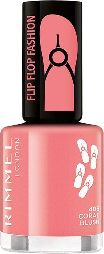 Rimmel London – Flip Flop Fashion körömlakk – 406 Coral Blush