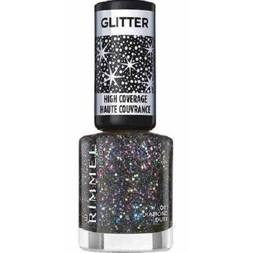 Rimmel London Glitter körömlakk – 001 Diamond Dust