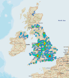 VRF Grants Heat Map