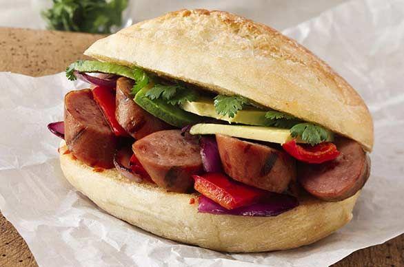 Sausage Skewer Sandwich