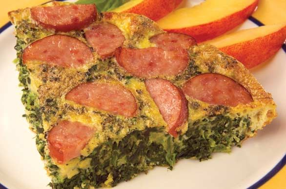 Sausage Spinach Frittate