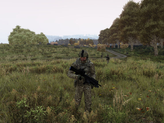 Secton Commender standing in a field