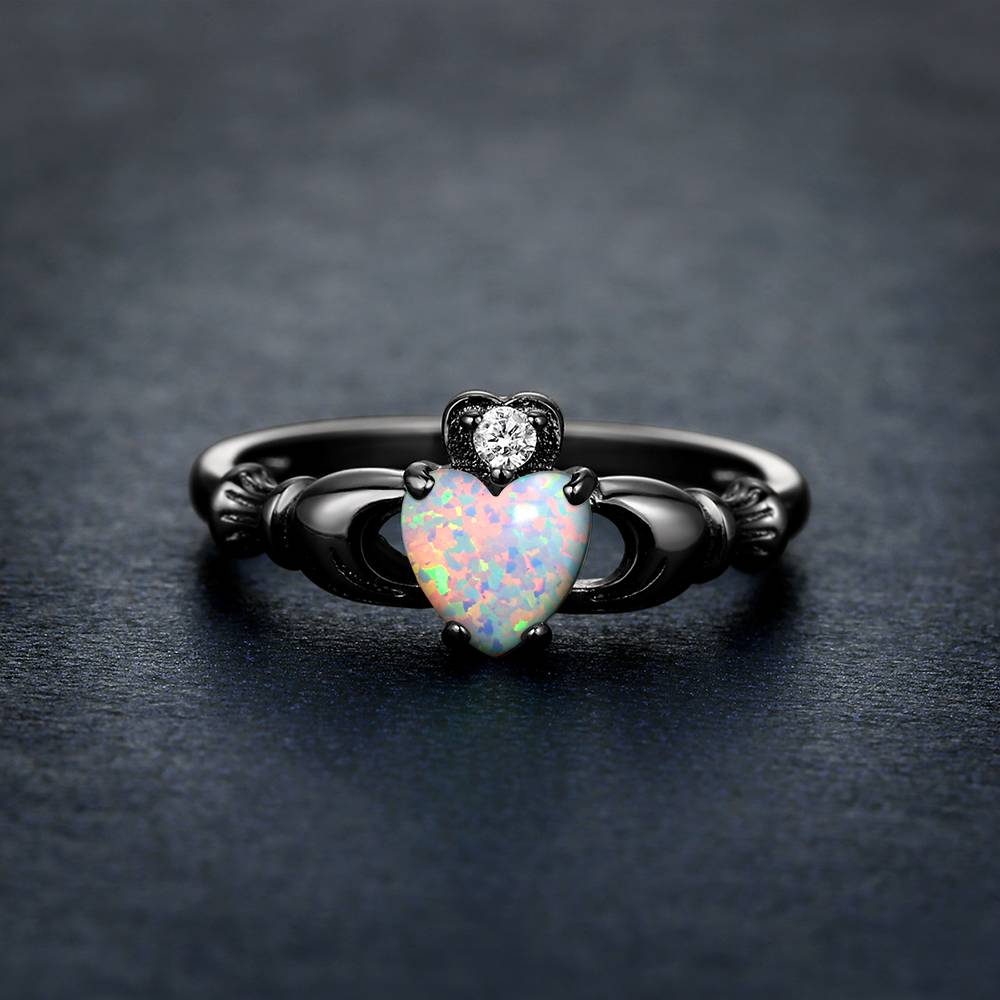 Buy Claddagh Ring Opal for $15.95 in Soufeel store