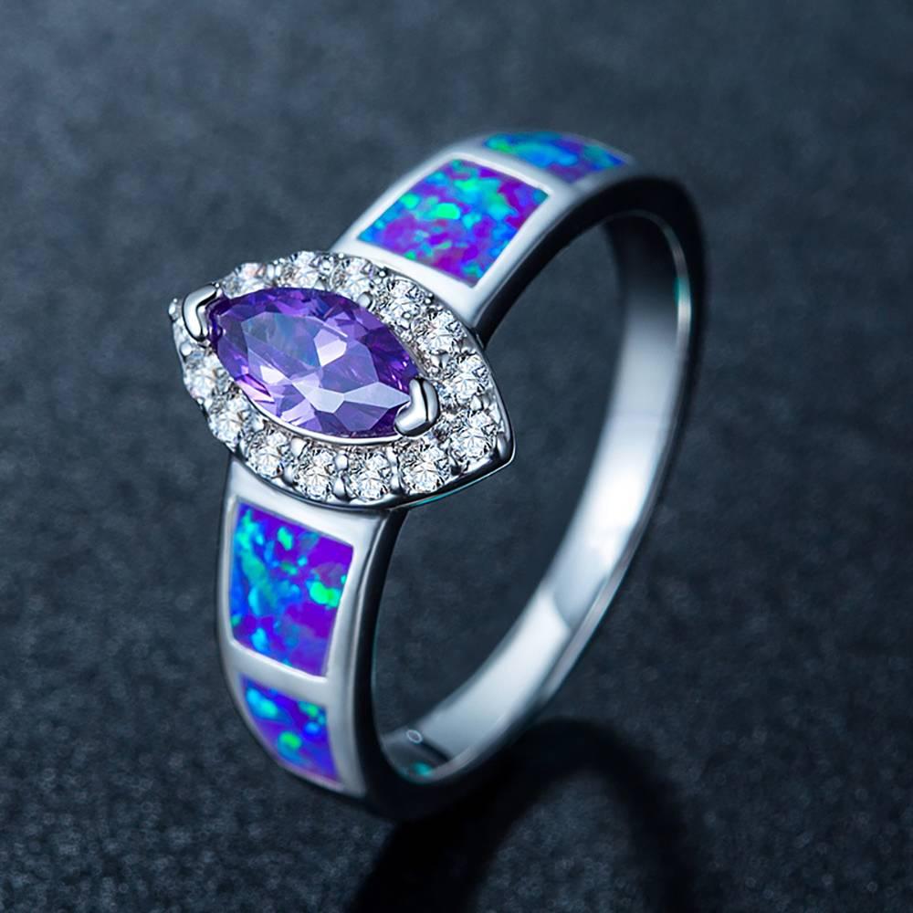 Buy Purple Zircon Ring Opal for $15.95 in Soufeel store