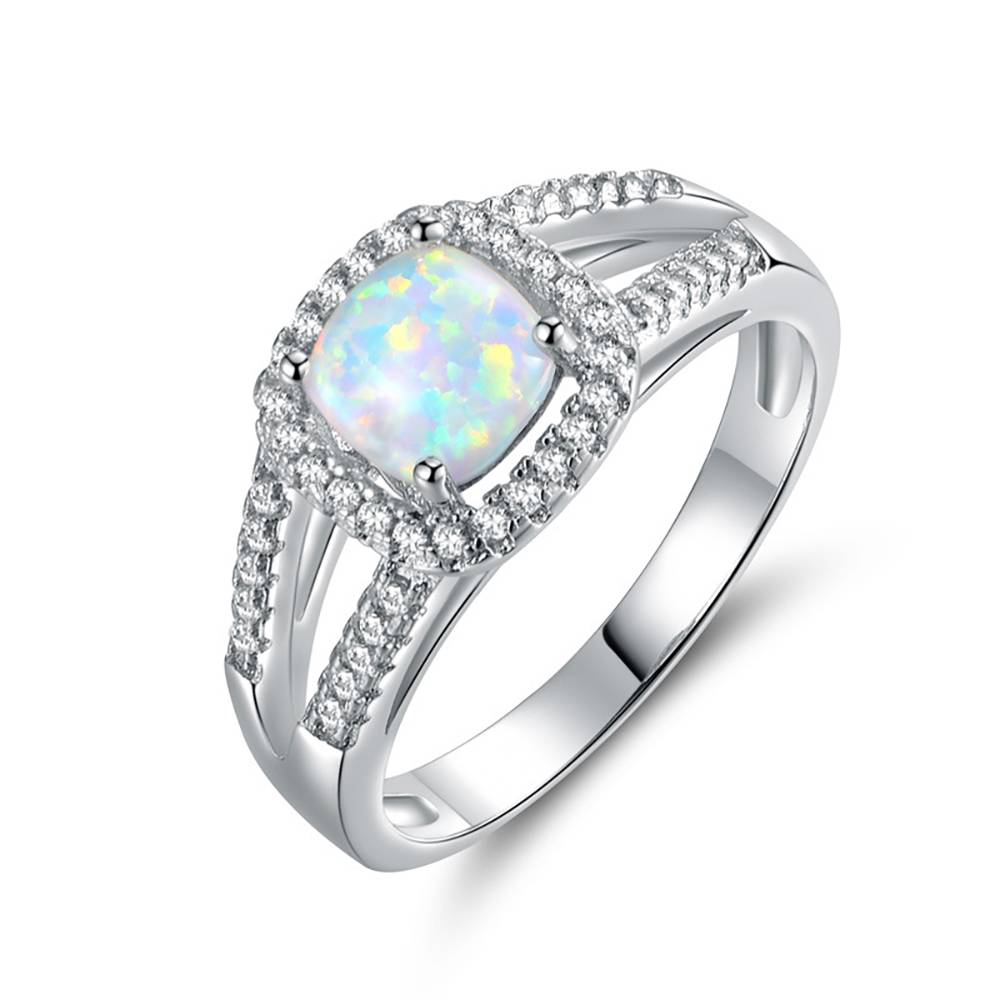 Buy Shape in Square Ring Opal for $15.95 in Soufeel store