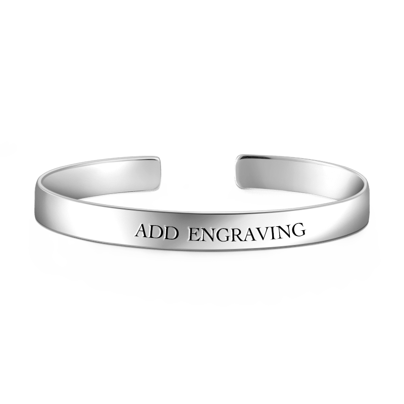 Personalized Engravable Bangle 925 Sterling Silver