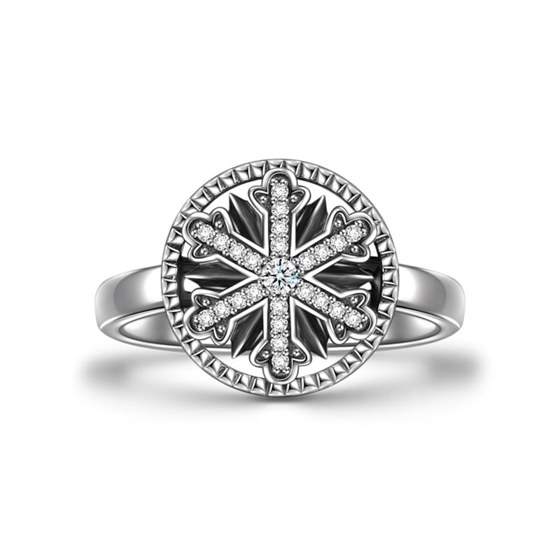 Buy Soufeel Winter Snowflake Ring Silver for $25.95 in Soufeel store