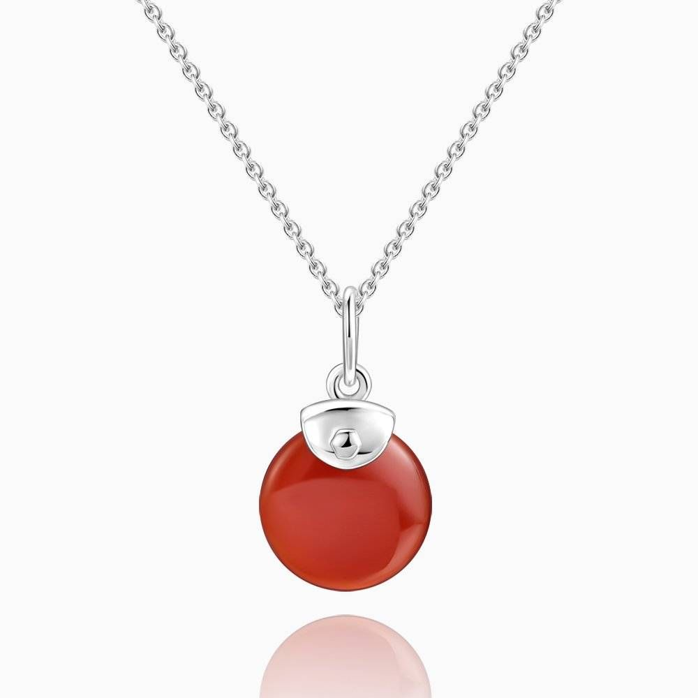 Bright Red Necklace Silver