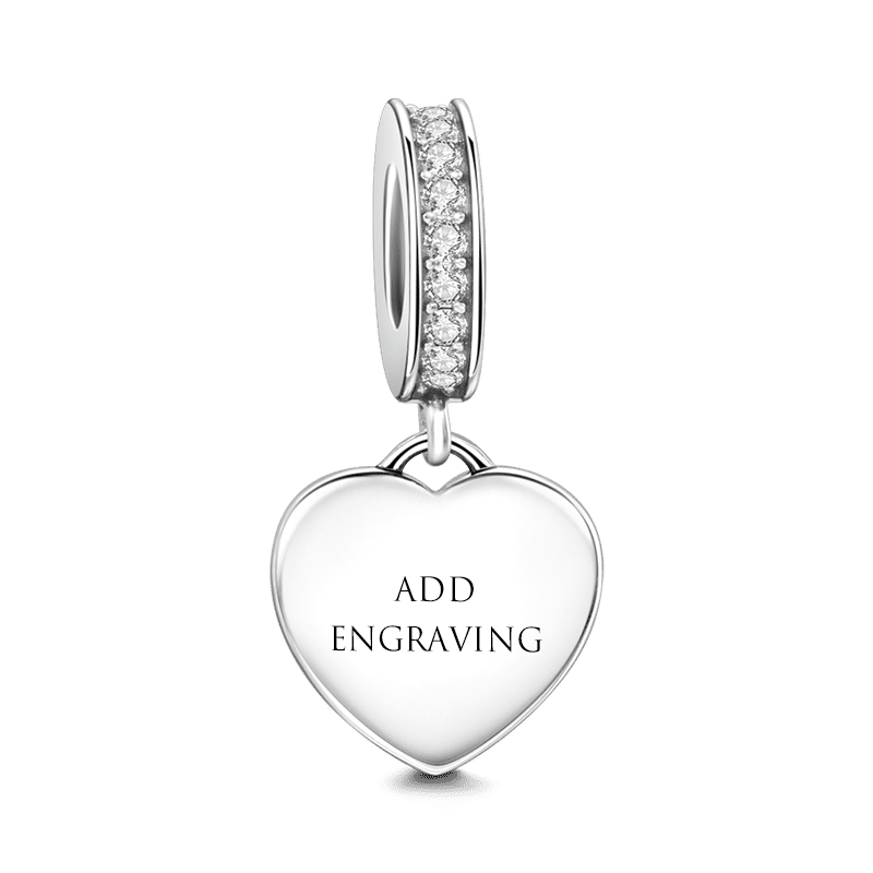 Buy You are in My Heart Engraved Charm Silver for $25.95 in Soufeel store