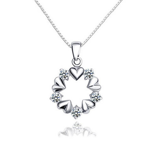 Heart-shaped Necklace Silver