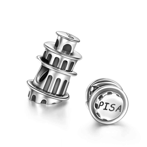 Leaning Tower Of Pisa Charm Silver Charms