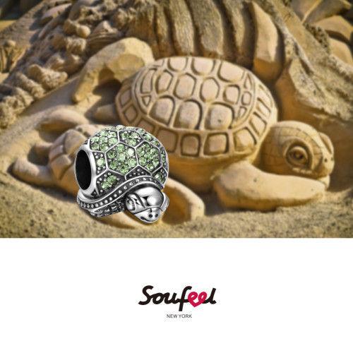 Sea Turtle Charm Silver Color