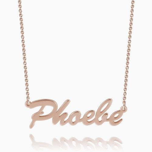 personalized name necklace rose gold plated silver gifts