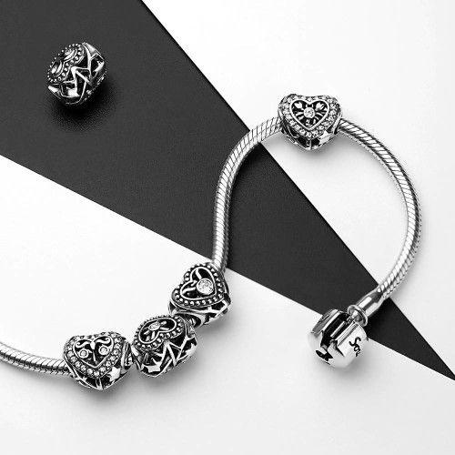 swarovski crystal scorpio charm silver