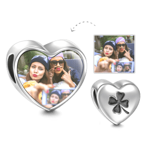 Buy Clover Design Heart Photo Charm Silver for $29.95 in Soufeel store