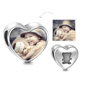 Buy Bear Design Heart Photo Charm Silver for $29.95 in Soufeel store