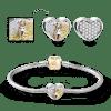 Buy Soufeel Snake Chain Bracelet Pave CZ Heart Photo Charm 14k Gold Plated Silver, C021JXL
