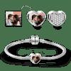 Buy Soufeel Snake Chain Bracelet Pave CZ Heart Photo Charm Silver, C021XL