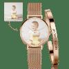 Buy Women's Custom Photo Watch Bangle Set, Set-529
