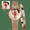 Buy Women's Custom Photo Watch Bangle Set, Set-530