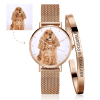 Buy Women's Custom Photo Watch Bangle Set, Set-531