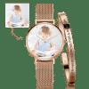 Buy Women's Custom Photo Watch Bangle Set, Set-534