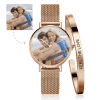 Buy Women's Custom Photo Watch Bangle Set, Set-535
