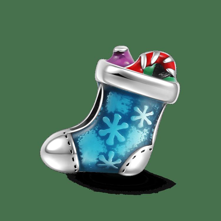 Weihnachtsstrumpf Silber - Weihnachten - Geschenke