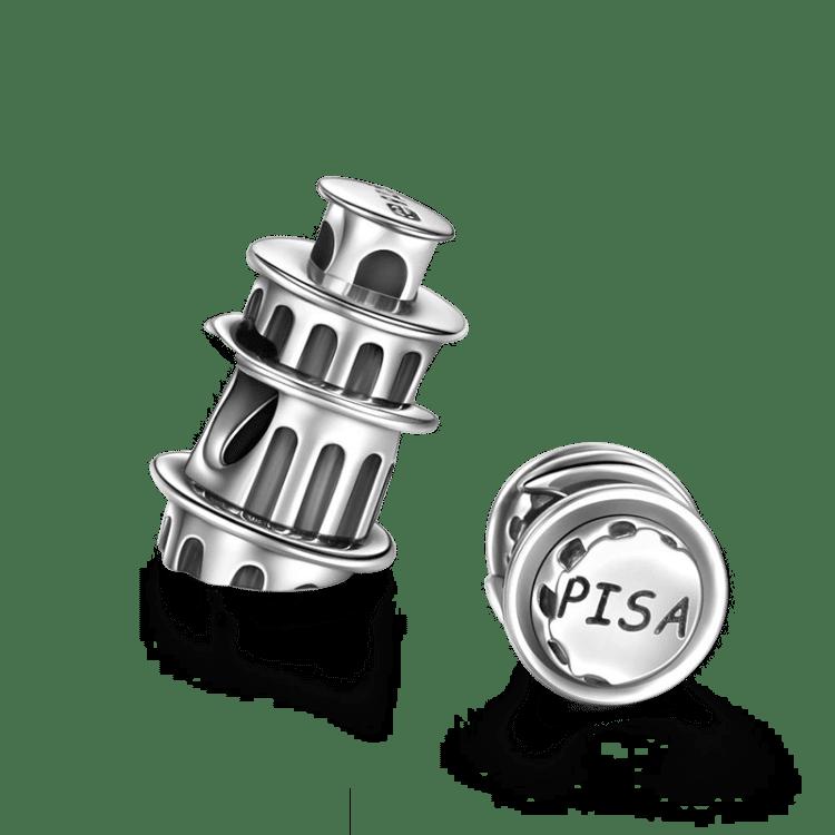 Schiefer Turm von Pisa Silber Charms