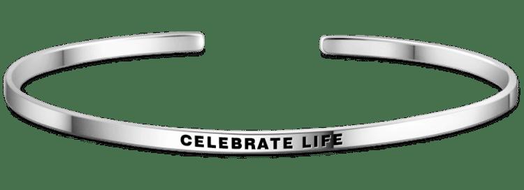 Celebrate Life Bangle Silver Personalized