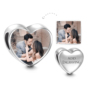 Buy Heart Engraved Photo Charm Silver for $19.95 in Soufeel store