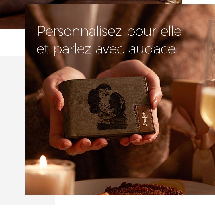 SOUFEEL Porte-cl/és Personnalis/é Gravure Porte cl/és avec Une Photo Grav/ée Pendentif Coeur en Acier Inoxydable Bijoux Cadeau pour Femme Homme