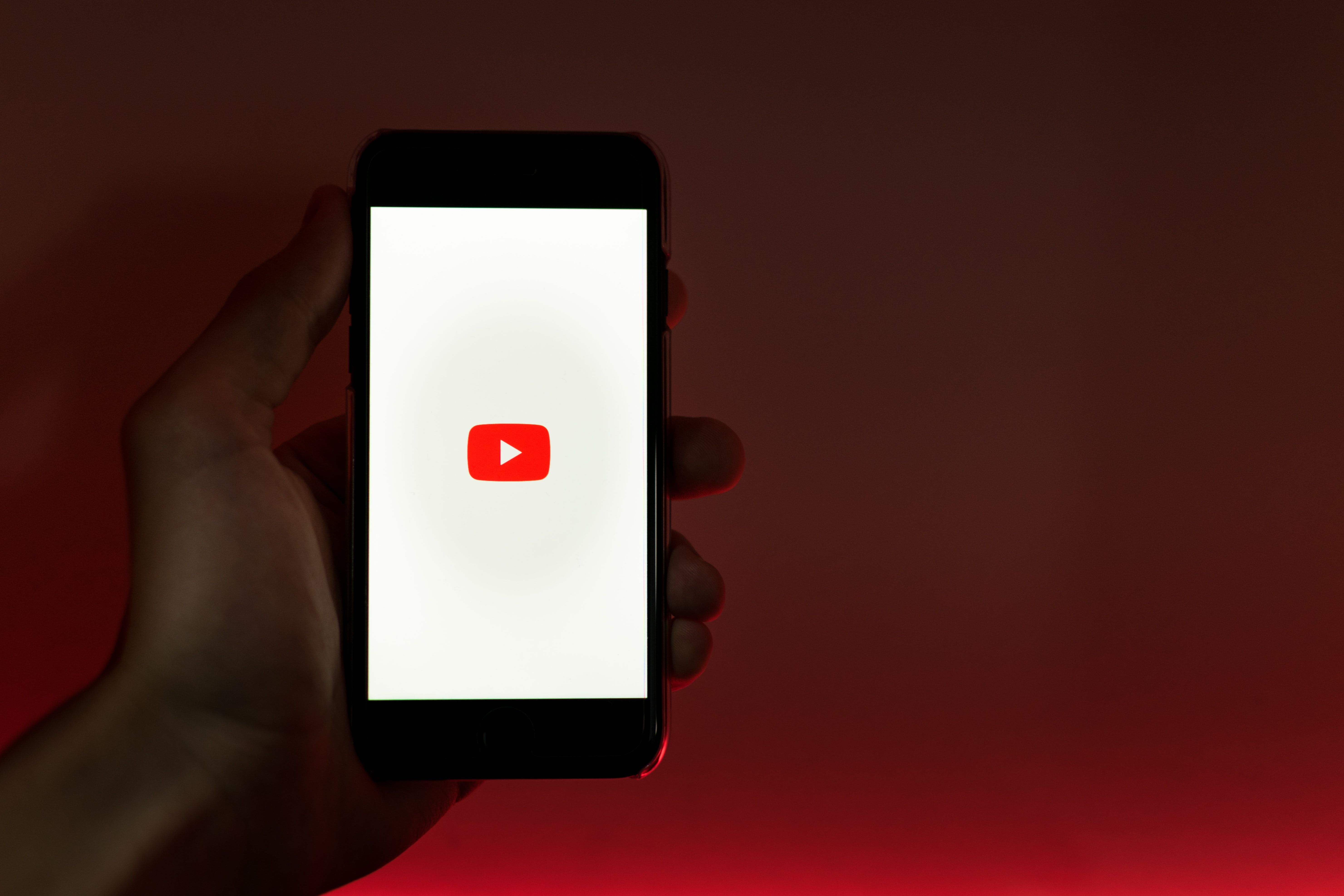 YouTube Icon on Mobile Phone