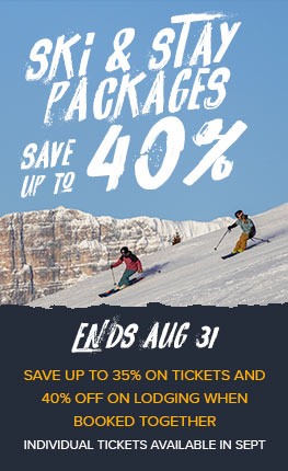Ski & Stay Packages - Save up to 40%