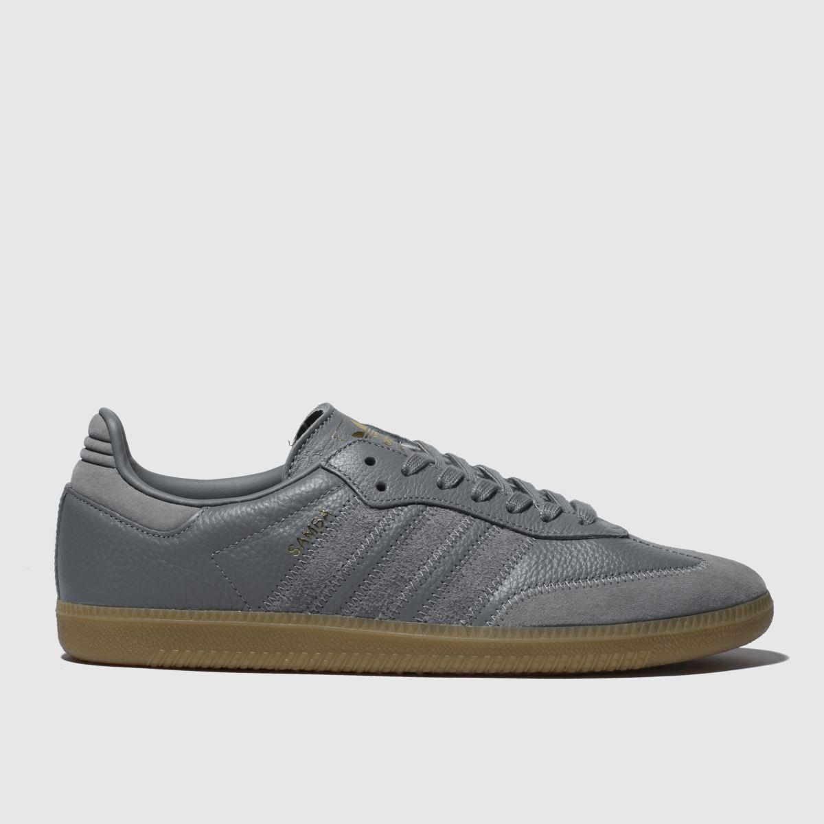 Adidas Grey Samba Og Ft Trainers