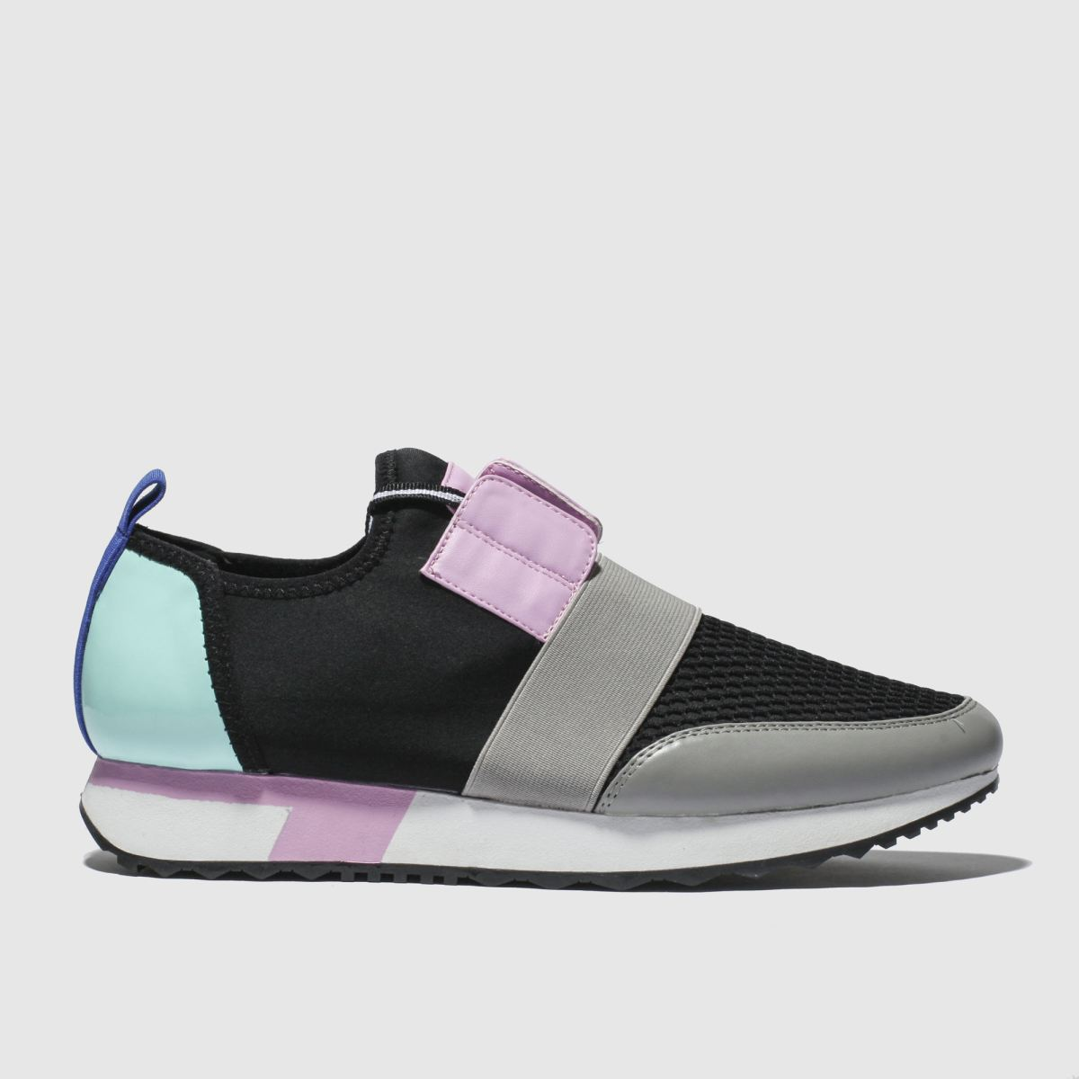 Schuh Black \u0026 Pink Finesse Flat Shoes